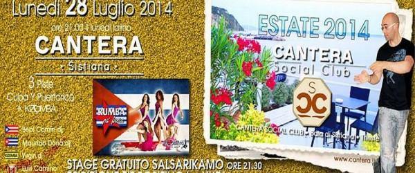 Stage Salsa Portoricana al cantera 28 luglio