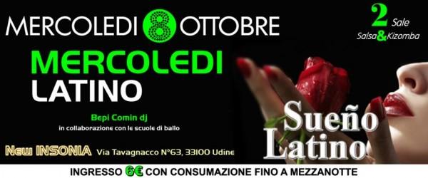 Serata latina a Udine presso Insonnia